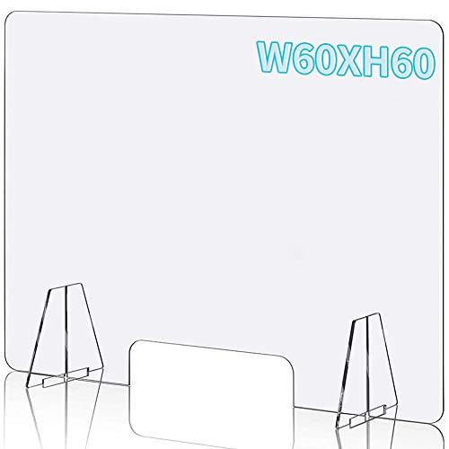 TTMOW Schutzwand Acrylglas Platte - 60 x 60 cm,Schutzschirm, Spuckschutz Plexiglas Glas