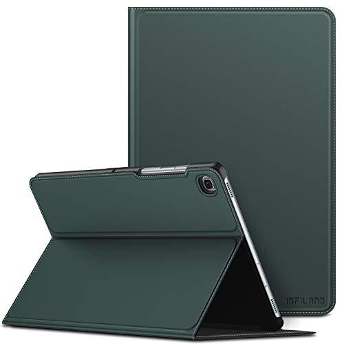 Infiland Schutzhülle für Samsung Galaxy Tab S5e 10,5 Zoll, Standfunktion, kompatibel mit Samsung Galaxy Tab S5e 10,5 Zoll Modell SM-T720/SM-T725 2019 (Auto Wake/Sleep) Grün - Midnight Green