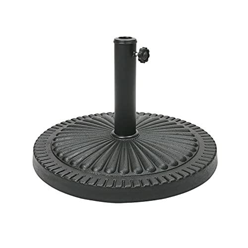 EPISENT | 14kg Cast Iron Effect Parasol Base | Heavy Duty Parasol Base | Umbrella Base Weight | Parasol Stand | Compatible With All Parasols