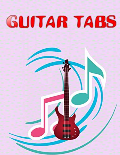 """Blank Guitar Tabs: Under The Bridge Guitar Tabs Size 8.5 X 11"""" ~ Music - Blank # Play ~ Matte Cover Design White Paper Sheet 120 Pages Good Prints."""