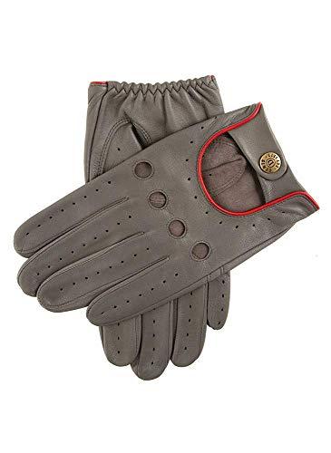 Holzkohle / Berry Delta Haarschere Leder Klassisch Fahren Handschuh - Groß von Dents
