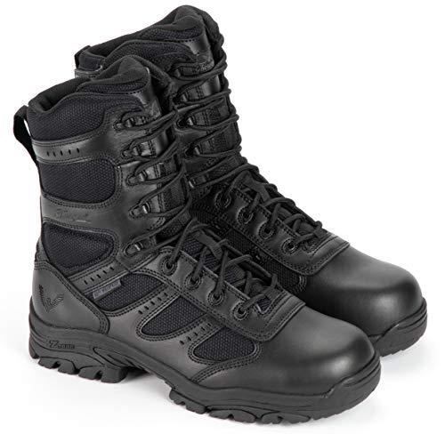 Thorogood 804-6191 Men s Deuce Series 8  Waterproof Side-Zip Composite Safety Toe Tactical Boot, Black - 11.5 M