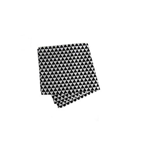 MXJ61 Serviette Coton Mouth Tissu Noir et Blanc Lattice Pliant Fleurs Serviette Tissu Bouche Tissu 59 * 44cm ( Couleur : Noir , taille : 6 Pcs/Set )