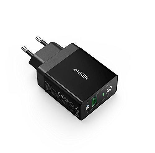 Anker AK-A2013314 PowerPort+1 18W USB Ladegerät mit Quick Charge 3.0 und Power IQ für Galaxy S7/S6/Edge/Plus, Note 5/4, LG G4, HTC One A9/M9, Nexus 6, iPhone, iPad und Viele Mehr (in Schwarz)
