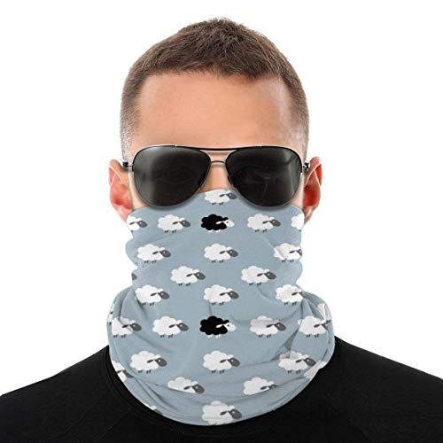 Personalisierte Maske Bandana Weiß Schwarz Cartoon Schaf Muster Männer Frauen Hals Gamaschen für Staub Wind Motorrad