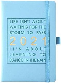WOIA 2021 English Internal Pages Planificador de Agenda Personal Planificador de Agenda de Cuaderno, Azul Cielo