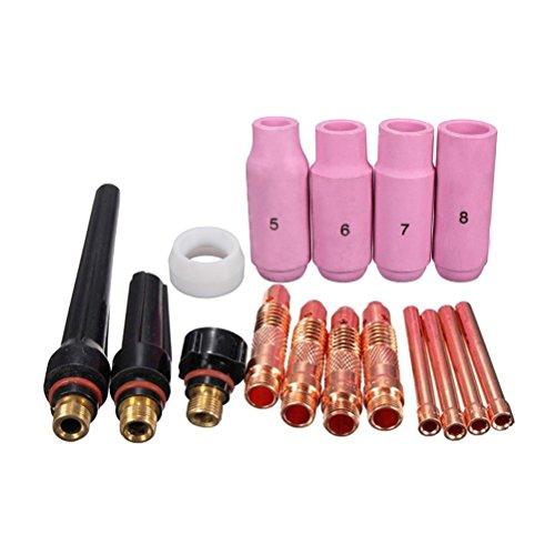 Preisvergleich Produktbild OUNONA Wig Schweien Equipment TIG Kit Gas Objektiv f¨¹r TIG wp-17 / 18 / 26Taschenlampe 16