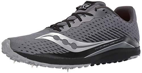 Saucony Men's Kilkenny XC8 Spike Running Shoe, Black/Silver, 120