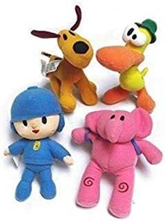 Pocoyo Plush Mini Pato Pocoyo Elly & Loula Dog 4pcs Pocoyo Doll Stuffed Animals Figures Anime Cute Soft Collection Toy