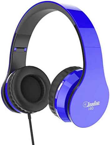 Elecder i40 Headphones with Microphone Foldable Lightweight Adjustable Wired On Ear Headsets product image