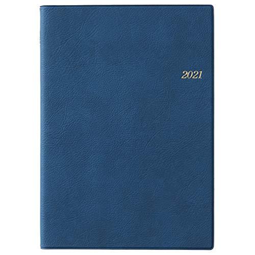 能率NOLTY手帳2021年A5デイリーメモリー3ブルー7132(2021年1月始まり)