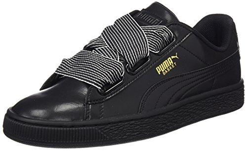 Puma Basket Heart Wn's, Scarpe da Ginnastica Basse Donna, Nero Black Black, 36 EU