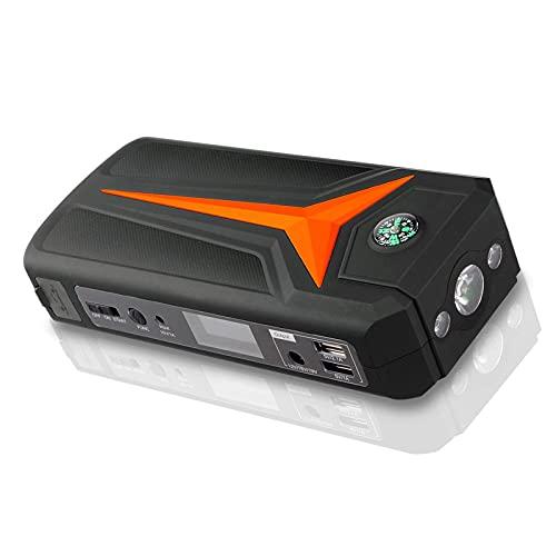 GRFSD 1000A 18000mAh Arrancador De Batería for Coche,Cargador De Batería De Vehículo Inteligente,Cargador De Batería Automático Inteligente con Modos De Luz Y 2 Puertos USB