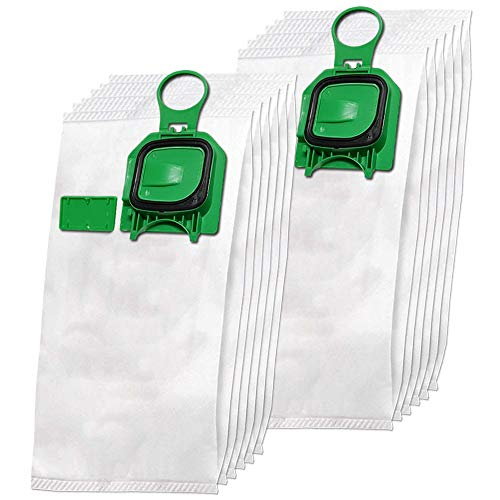 Set 12 Premium Mikrovlies Staubsaugerbeutel geeignet für Vorwerk Kobold 140, 150, VK 140, VK 150, VK140, VK150, FP140, FP150 - mit Hygieneverschluss - Vlies