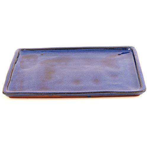 Bonsai 53301 - Sottovaso Rettangolare, 31,5 x 24,5 cm, Colore: Blu