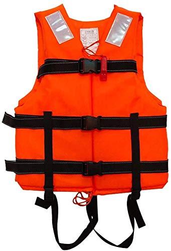 SXZSB Universal Paddle Kayak Chaleco Salvavidas Chaleco De Flotabilidad Ajustable Ayuda Natación Canotaje Vela Pesca Kayak Chaleco Salvavidas Chaleco para Adultos,Naranja
