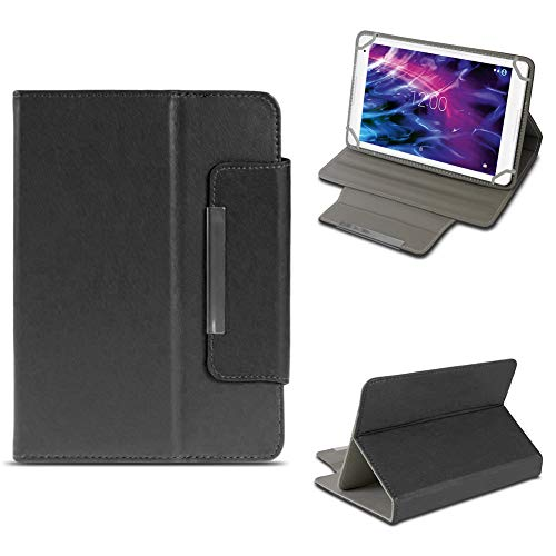 NAUC Tablet Tasche für Medion Lifetab P10603 P10606 P10602 X10605 X10607 X10311 X10302 X10301 P10400 P10506 Hülle Schutzhülle Hülle Cover Stand, Farben:Schwarz