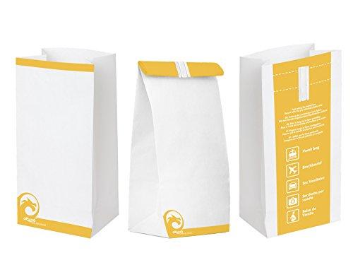 Oqard, sacchetto per vomito con aletta di chiusura, confezione da 50