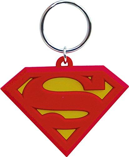 DC Comics Superman Logo Cut Laser Llavero de goma