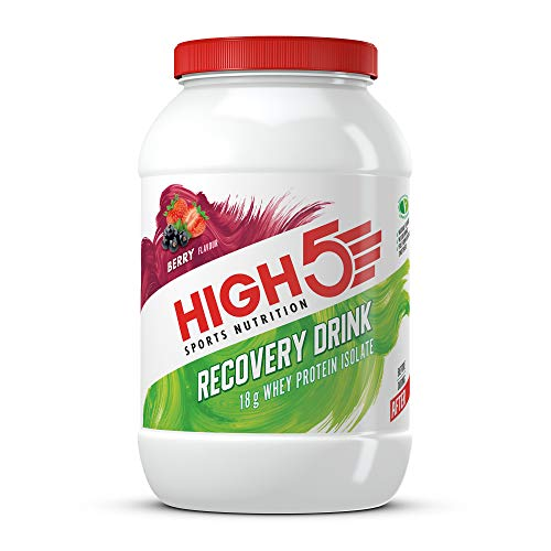 HIGH5 Recovery Drink High in Whey Protein Isolate Promotes Recovery (Berry, 1.6kg)