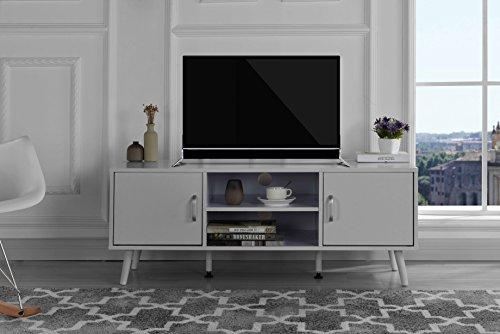 Divano Roma Furniture Mid Century Modern TV Stand (White)