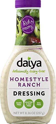 Daiya Ranch Dressing, 100% Dairy Free :: Creamy Homestyle Salad Dressing :: Vegan, Gluten Free, Non GMO :: Deliciously Zesty Flavor For Pouring or Dipping, 8.36-Oz. (2 Pack)