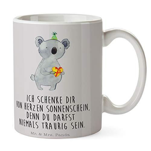 Mr. & Mrs. Panda Büro, Tee, Tasse Koala Geschenk mit Spruch - Farbe Grau Pastell