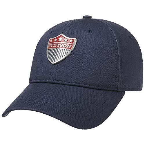 Stetson Gorra con Protección UV Stars Hombre - de Beisbol Baseball Verano Hebilla Metal, Visera Verano/Invierno - Talla única Azul Oscuro