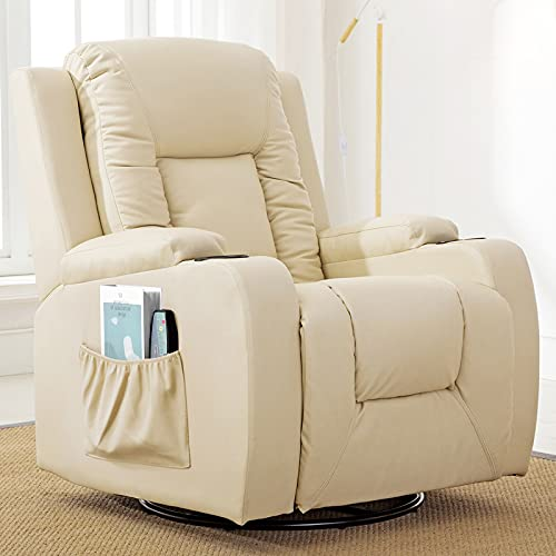 Comhoma Recliner Chair | Massage Rocker with Heated Modern PU Leather