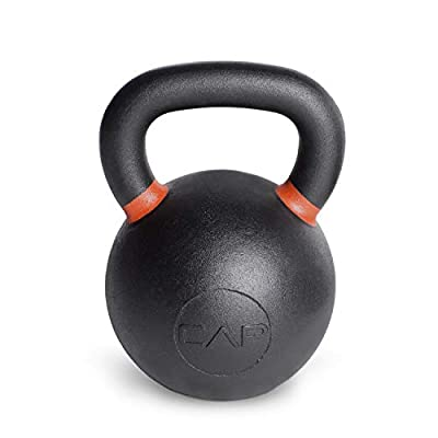 CAP Barbell Cast Iron Competition Kettlebell Weight, 62 Pound, Black/Orange by CAP Barbell