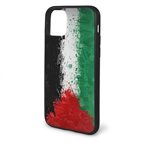 FunnyStar iPhone 11 Pro Max Hoes, Mat Hoesje met Zachte randen, Schokbestendig en Anti-Drop Beschermingshoes, Palestijnse Vlag, Iphone 11, Zwart