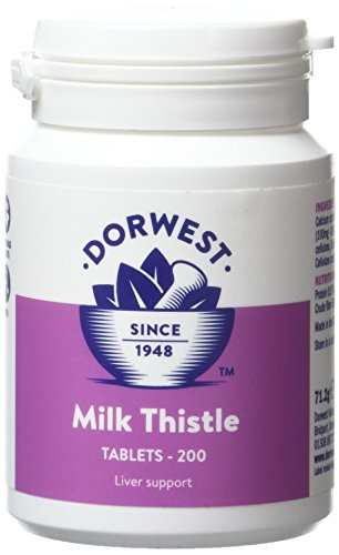 Dorwest Herbs Milk Thistle Tablets for Dogs and Cats 200 Tablets