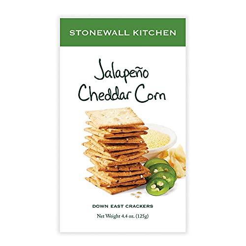 Stonewall Kitchen Jalapeño Cheddar Corn Crackers, 4.4 oz