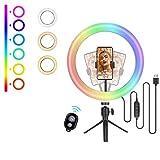 (New 2021) Cheelom 10 pulgadas aro de luz 48 color mode LED Ring Lamp aros de...