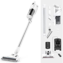 Upright Cordless Vacuum Cleaner, Bagless 2 in 1 Handheld Vacuum Cleaner with Power 2200mAh Rechargeable Battery, Lightweig...