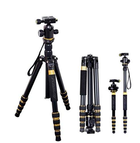 L&LQ Trípode de cámara, monopie de aluminio con liberación rápida para Canon Nikon Sony DSLR