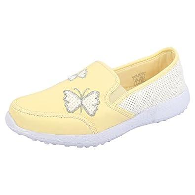 KazarMax Boys & Girls (Unisex) Lemon Butterfly Latest Collection, Comfortable Sneaker Shoes