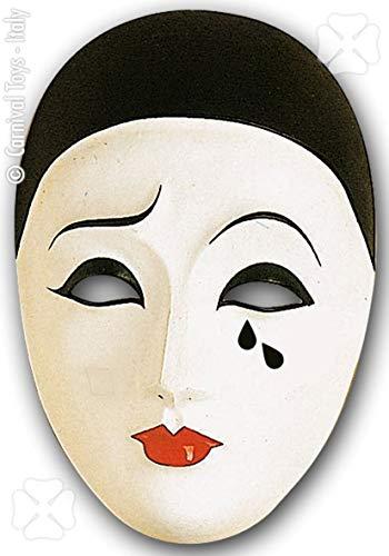 Generique - Pierrot-Maske für Erwachsene