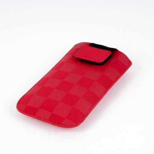 NFE² Etui offen - rot - mit Ausziehlasche & flacher Gürtelschlaufe für Nokia 3330