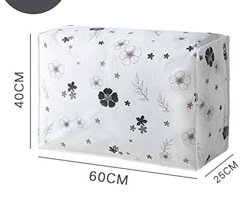 YAOUYYYSN - Bolsa de almacenamiento de colchas, antimoho, impermeable, bolsa de clasificación de embalaje, equipaje, bolsa para el polvo, hojas móviles, color negro, 60 x 25 x 40 cm