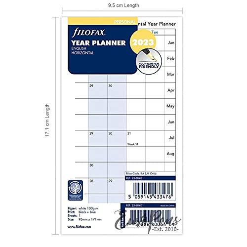 Filofax Persoonlijk Jaar Planner horizontaal 2023 – 23-68401