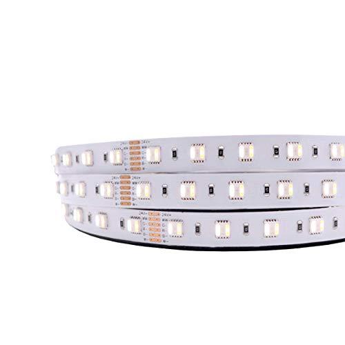 iluminize LED-Streifen RGB+CCT Meterware (1-50m, Lieferung am Stück): hochwertig und hoch selektiert, RGB+CCT (2300K+6500K), 60 LEDs/m, 24V, 20W/m, Steuerungstechnik nicht enthalten (IP33 Meterware)