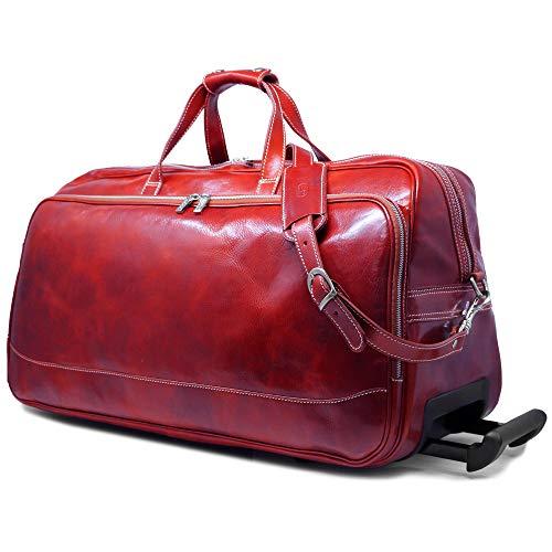 Floto Milano Italian Leather Rolling Duffle Bag Trolley Luggage
