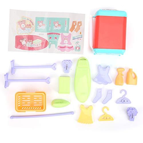 A sixx Interessante Kinder Waschmaschine Spielzeug, High-Simulation Sound Exquisite Verarbeitung Haushaltsgerät Waschmaschine Spielzeug, für Kinder(Washing Machine)