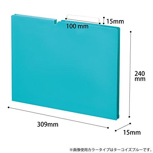 『コクヨ ファイル 個別フォルダー NEOS A4 15mm 3辺とじ 6色セット A4P-NEF15X6C』の8枚目の画像