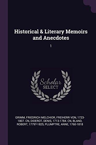 HISTORICAL & LITERARY MEMOIRS