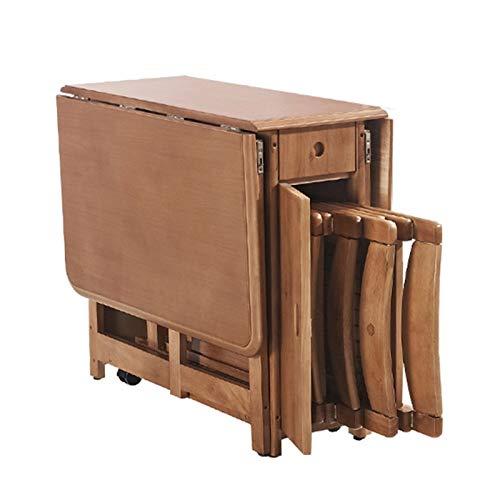 ABD Mesa sobrecama con ruedas, mesa de comedor plegable con hojas de caída, mesa de comedor multifunción, función telescópica, ahorro de espacio (tamaño : mesa individual)
