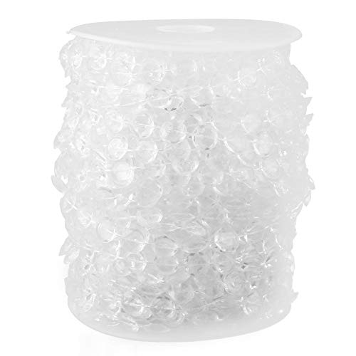 30M doorzichtige acryl kralenrol, kristallen kralen-koord-slingdecoratie voor gordijn-huwelijks-hangende versiering transparant