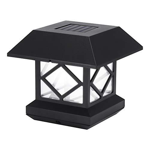 Winbang Pfosten-Lichter, Solarpfosten beleuchtet Säulen-Lampen im Freien LED-Garten-Pfosten-Zaun-Lichter für Hausgarten-Yard-Wand-Zaun-Beleuchtung (Kaltes Weiß)