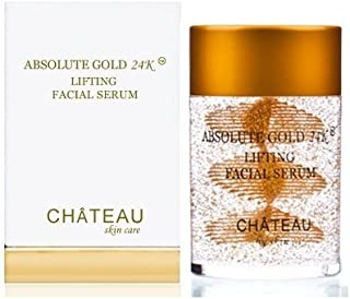 ABSOLUTE GOLD 24K Lifting Facial Serum - 24 Karat Gold, SILK PEPTIDES and HYALURONIC Acid. Excellent for al...